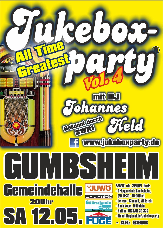 Jukeboxparty Gumbsheim 2018, Plakat A3