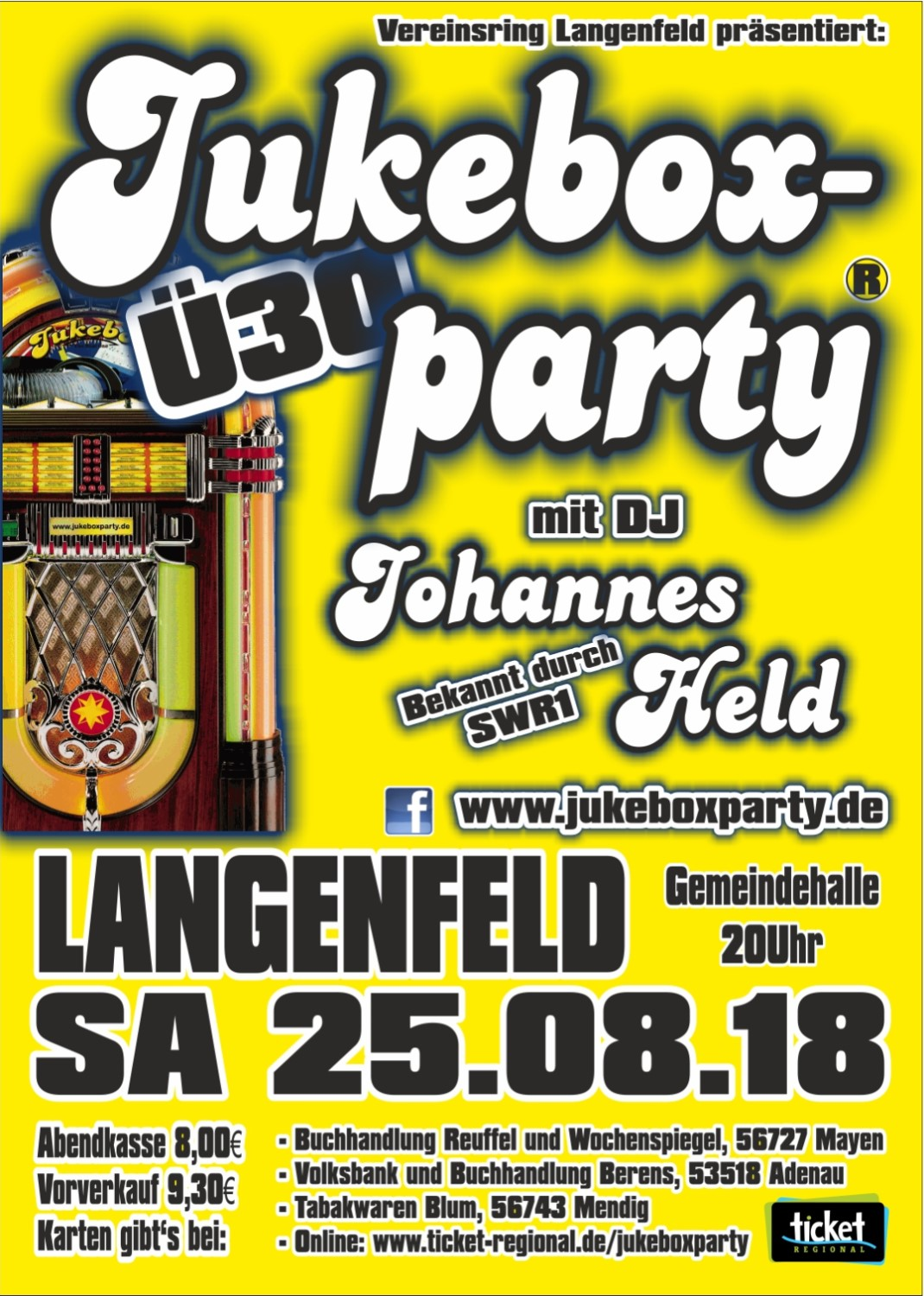 Jukeboxparty Langenfeld 2018, Flyer