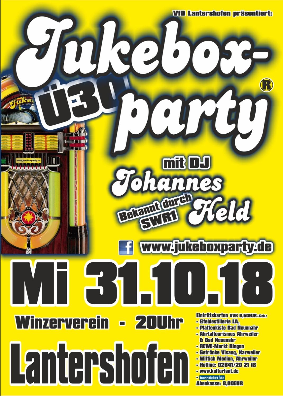 Jukeboxparty Lantershofen 2018, Flyer