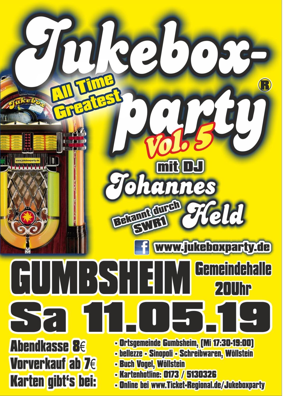 Jukeboxparty Gumbsheim 2019, Flyer