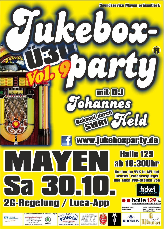 Plakat Jukeboxparty Mayen 2021